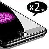 NEW'C PanzerglasFolie Schutzfolie für iPhone 7, iPhone 8, [2 Stück] Frei von Kratzern Fingabdrücken und Öl, 9H Härte, HD Displayschutzfolie, kompatibel iPhone 7, iPhone 8