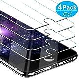 Beikell [4 Stück Displayschutzfolie für iPhone 8, iPhone 7, iPhone 6S und iPhone 6, Gehärtetes Glas Schutzfolie [4,7 Zoll], 9H Härte, Kratzfest, Blasenfrei