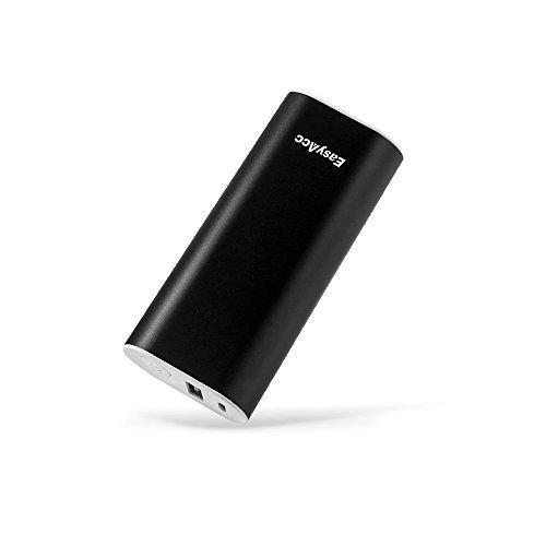 EasyAcc 6700mAh Mini PowerBank Externer Akku Ultra-kompakt Portables Ladegerät für iPhone Samsung Smartphones - Schwarz