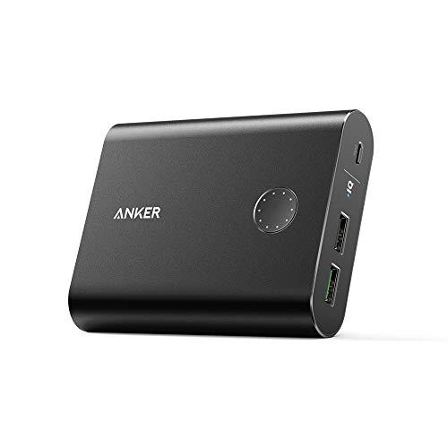 Anker PowerCore+ 13400mAh Powerbank Externer Akku mit Quick Charge 3.0, Premium Aluminium Hülle mit Qualcomm Quick Charge Ausgang für iPhone, iPad, Samsung und weitere (Schwarz)
