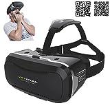 Tepoinn Google Cardboard-3D Brille-VR Brille-Virtual Reality Headset-3D VR Brille für 3D Filme und Spiele, Kompatibel mit 4.5 ~ 6 Zoll Smartphones, iPhone 6 6s, Samsung Note 5, S6 Edge Plus ?
