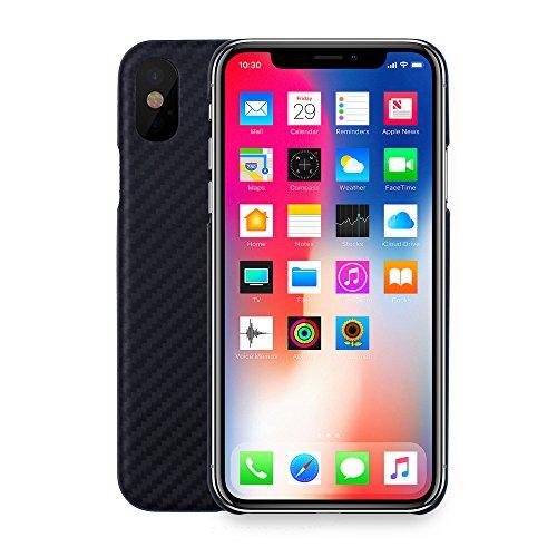 iProtect Kohlenstofffaser-Handyhülle – leichte, dünne und Starke Smartphone-Schutzhülle aus Carbonfaser für das iPhone X XS
