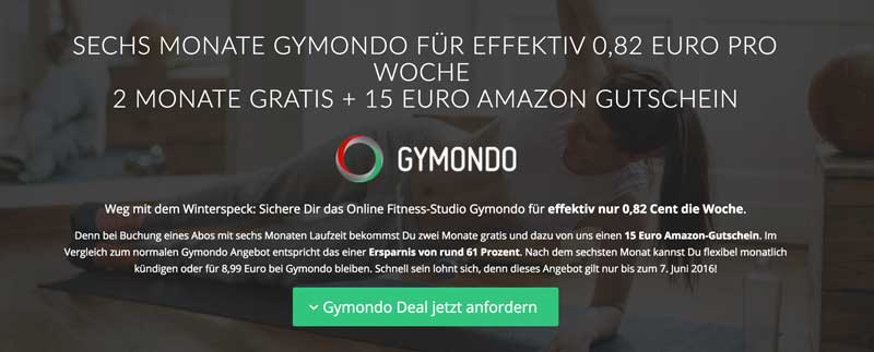Gymondo Amazon-Gutschein
