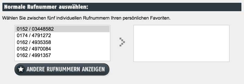 freenetmobile Netz Vorwahlen