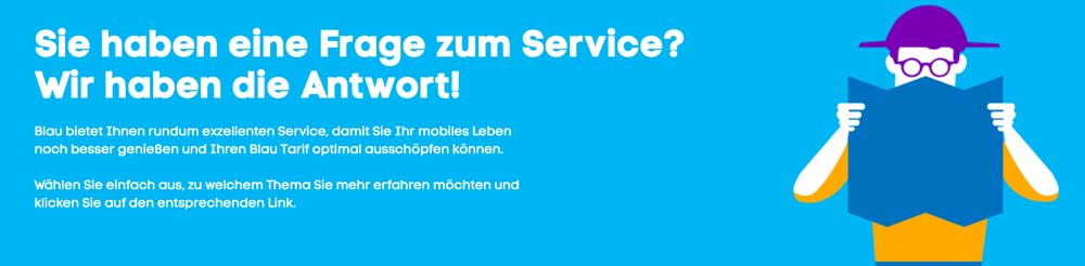 Blau Kundenservice