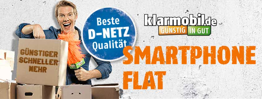 klarmobil Smartphone Flat jetzt inkl. 40€ Amazon-Gutschein