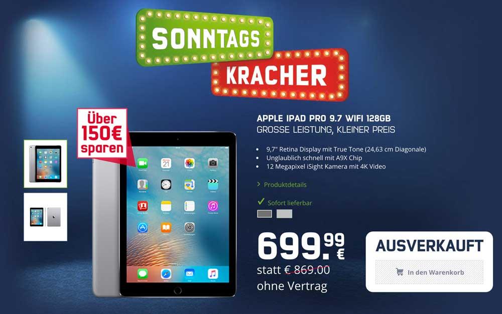 mobilcom-debitel Sonntagskracher: iPad Pro