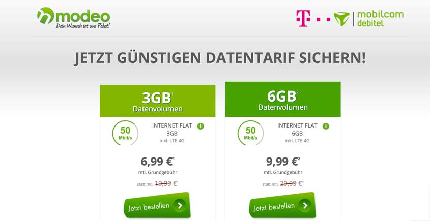 telekom netz lte 3 gb internet flat f r 6 99 euro 6 gb f r 9 99 euro. Black Bedroom Furniture Sets. Home Design Ideas