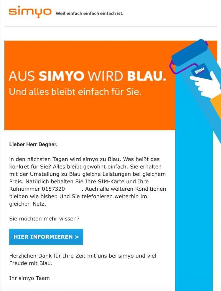 simyo macht blau