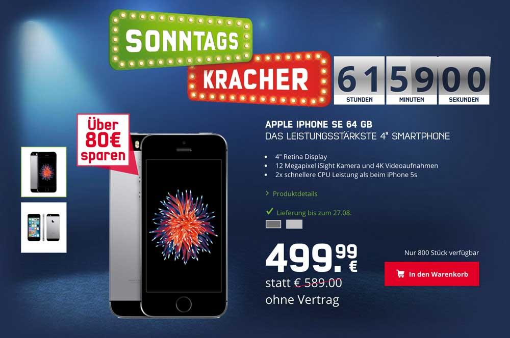 Sonntagskracher: iPhone SE für 349,99 €