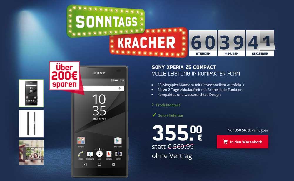 Sony Xperia Z5 für 355 €
