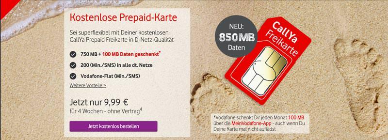 Vodafone Freikarte