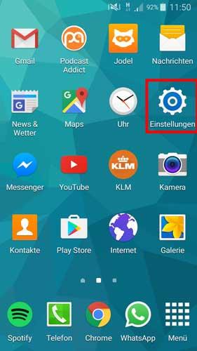 Android Datenverbrauch anzeigen