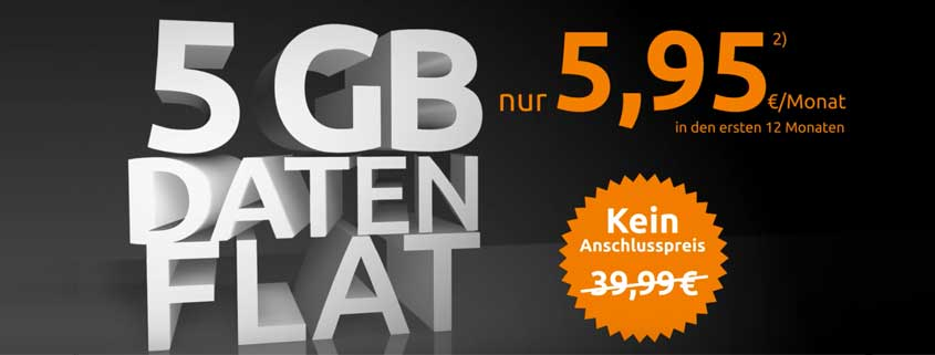 crash surf flat 5000 / crash 5 GB Datenflat im Test