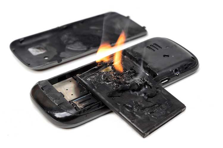 Smartphone Akku Feuer