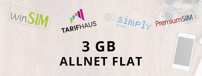 3 GB Allnet Flats im Vergleich – wer hat den besten Tarif?