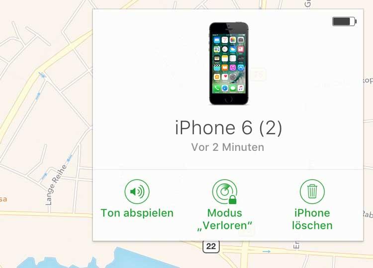 iPhone fernlöschen