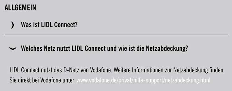LIDL Connect welches Netz