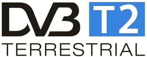 DVB-T2 HD blau weiß