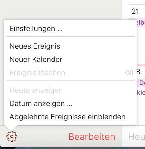 iCloud Kalender-Spam Einstellungen