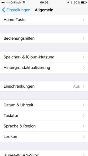 Kindersicherung iPhone