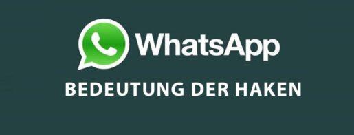 WhatsApp Haken Bedeutung