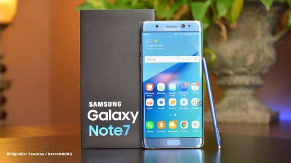 Samsung Galaxy Note 7: Akku wird durch Update zwangsabgeschaltet