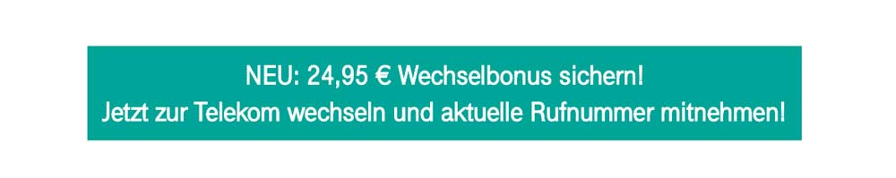 Deutsche Telekom Bonus Rufnummernmitnahme