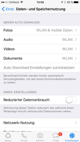 WhatsApp Auto-Medien-Download