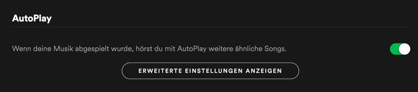 Spotify AutoPlay Funktion