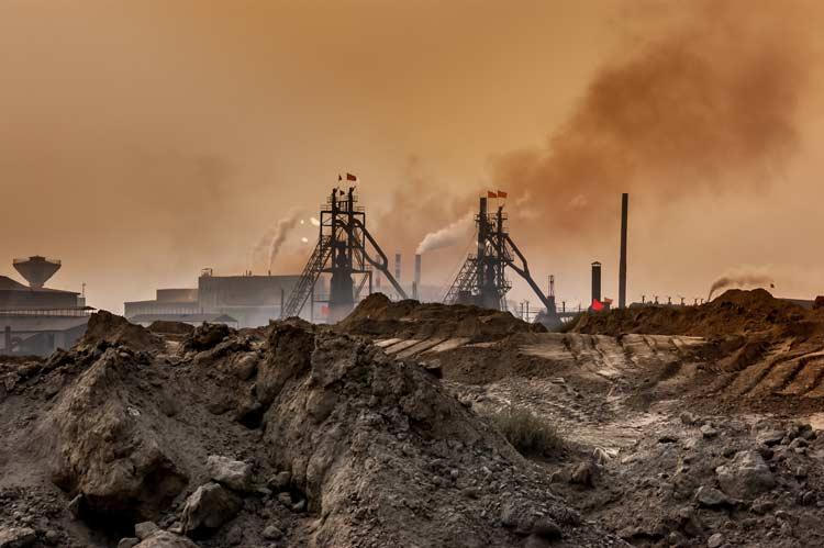 Umweltverschmutzung bei Smartphone Herstellung