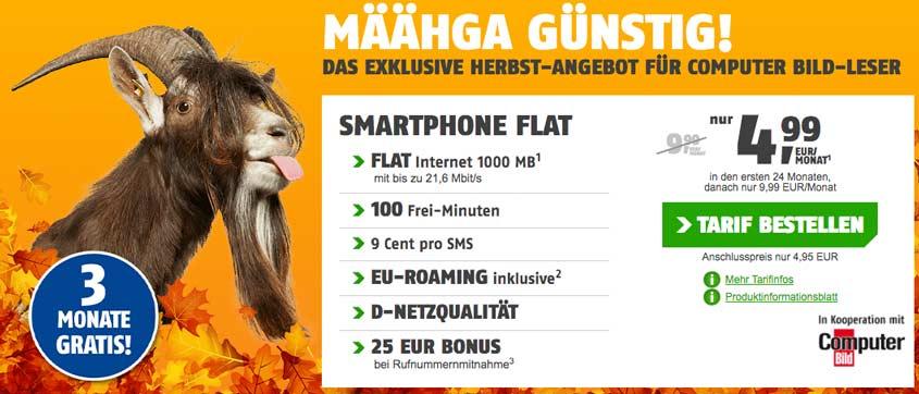 klarmobil Smartphone Flat 1.000