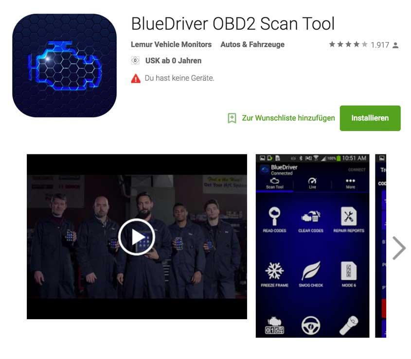 BlueDriver OBD 2 App