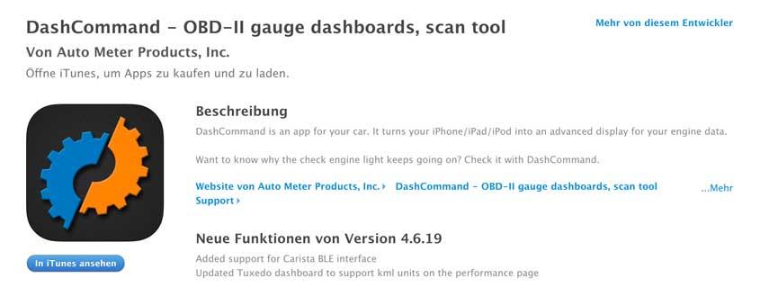 DashCommand OBD2 App