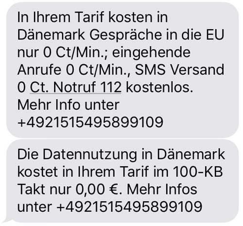 EU Roaming SMS