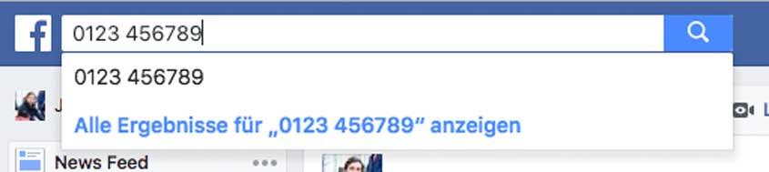 Facebook Handynummer-Rückwärtssuche
