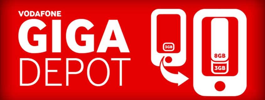 Vodafone GigaDepot: Datenvolumen in den nächsten Monat mitnehmen