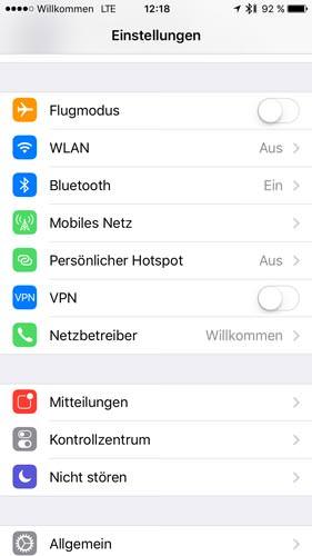 Persönlicher Hotspot auf dem iPhone