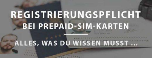 Registrierungspflicht Prepaid SIMs