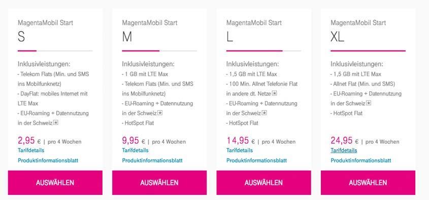 Telekom MagentaMobil Start: Prepaid Allnet Flat im D1-Netz