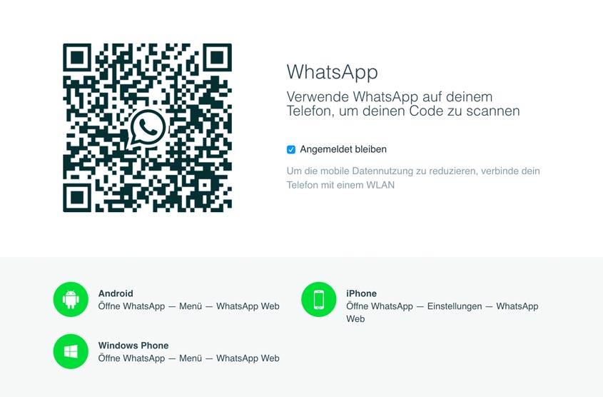 WhatsApp Web einrichten