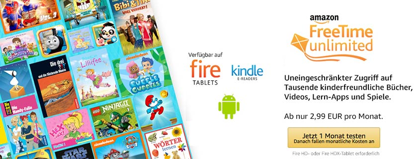 Amazon FreeTime: Kinderangebot von Amazon im Google Play Store