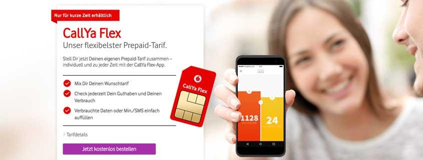 Vodafone CallYa Flex: Flexibel justierbarer Prepaid-Tarif