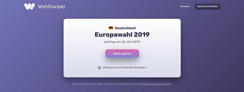 Wahl Swiper als Alternative zum Wahl-O-Mat 2019