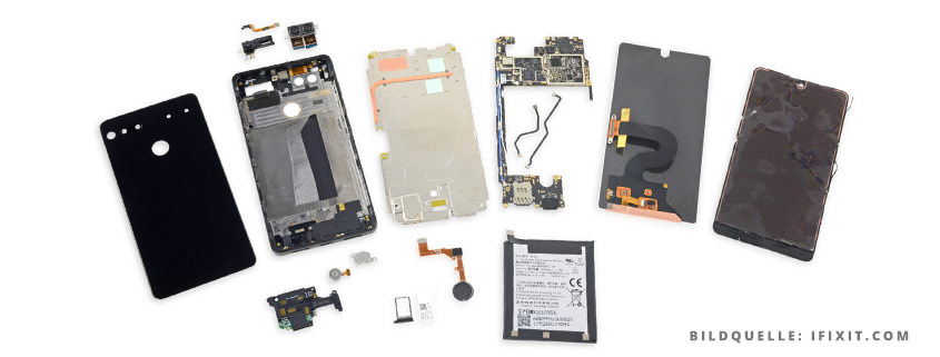 Essential PH1 Teardown: Probleme bei Reparatur