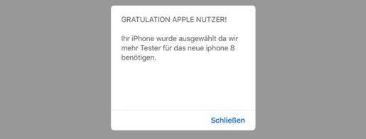 """Nervige Popups: """"Gratulation, Sie haben ein iPhone gewonnen"""""""