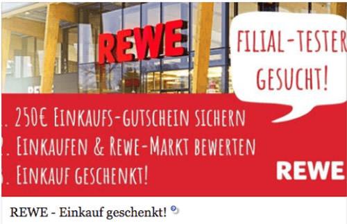 REWE Kettenbrief Fake per WhatsApp