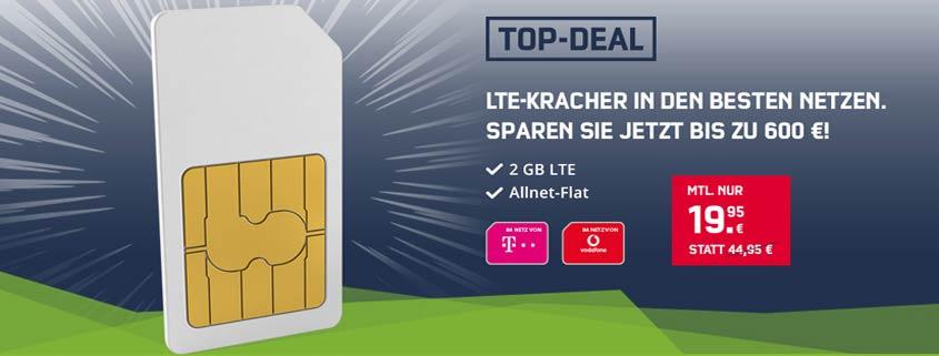 Telekom Magenta Mobil S & Vodafone Red S mit LTE zum Schnäppchenpreis