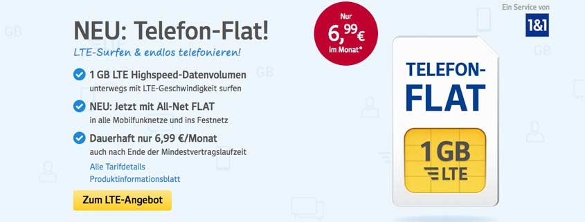 Web.de Handytarife: All-Net Flat mit bis zu 3 GB im Test