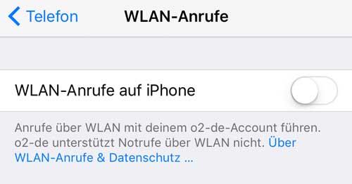 iPhone WLAN Anrufe